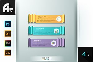 Modern Infographic Ribbon Templates