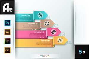 Modern Infographic Ribbon Template