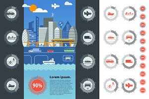 City traffic infographics.