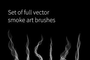 Set of full vector smoke art brushes