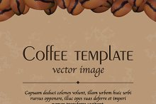 Coffee template, vector image