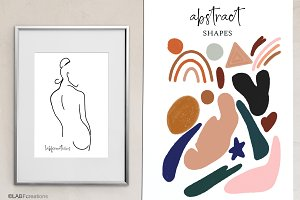 Abstract shape art clipart