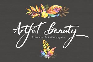 Artful Beauty brush font