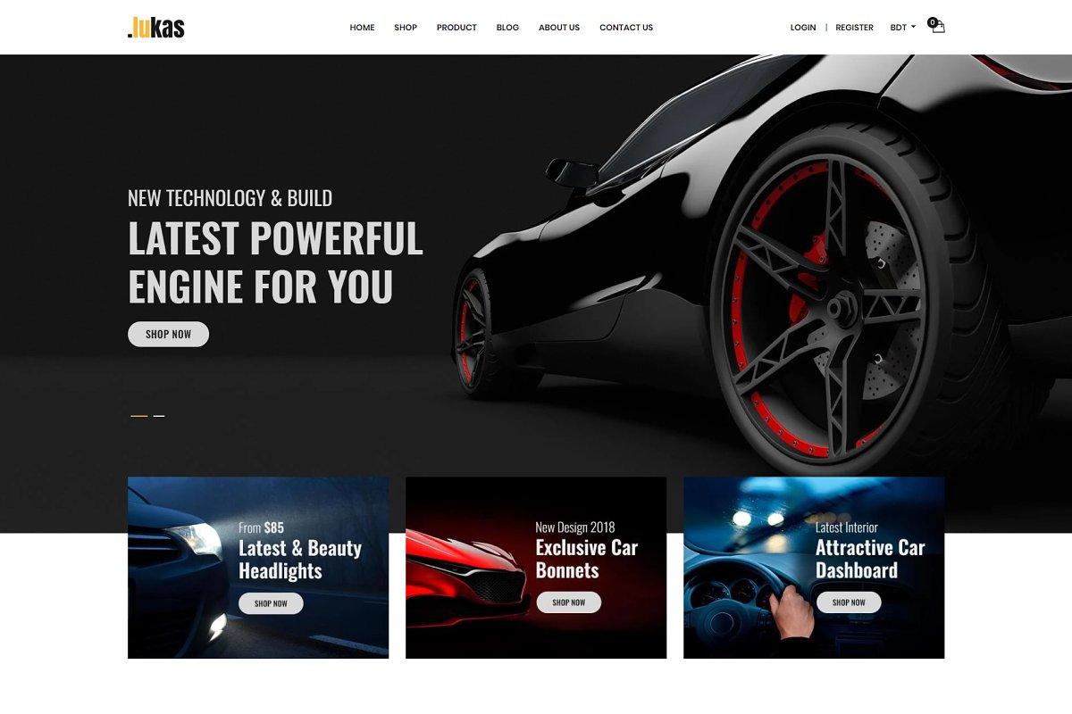 Lukas- Car Parts Store Shopify Theme