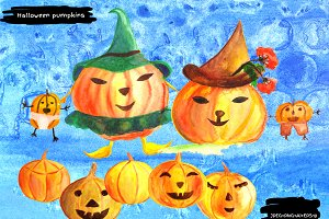 Cute Halloween Design Elements