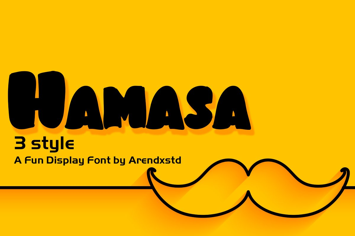 Hamasa Fun Display Font in Display Fonts - product preview 8