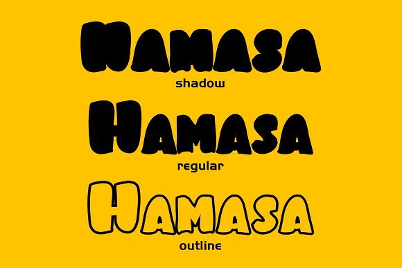 Hamasa Fun Display Font in Display Fonts - product preview 1