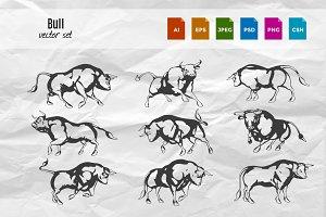 Bull Vector Set