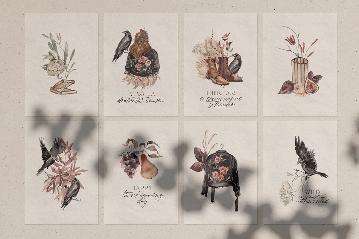 Dramatic Season Alphabet&Graphics in Illustrations - product preview 1