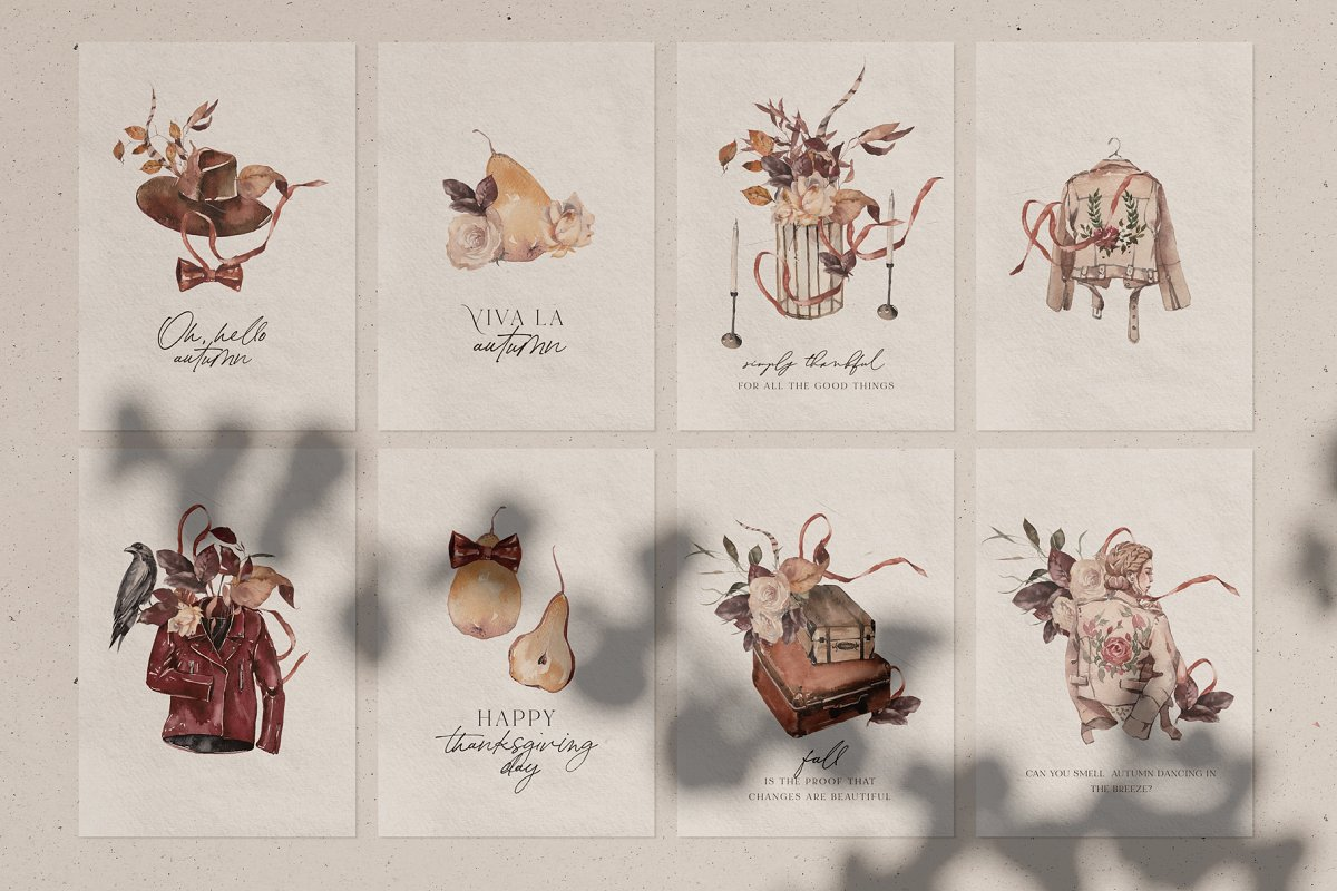 Dramatic Season Alphabet&Graphics in Illustrations - product preview 2