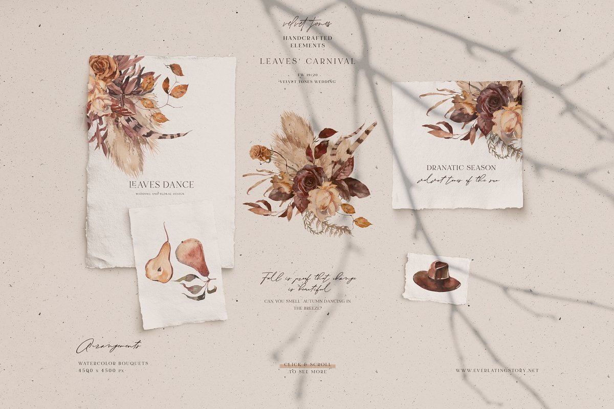 Dramatic Season Alphabet&Graphics in Illustrations - product preview 4