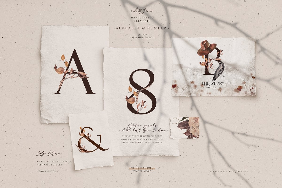 Dramatic Season Alphabet&Graphics in Illustrations - product preview 5