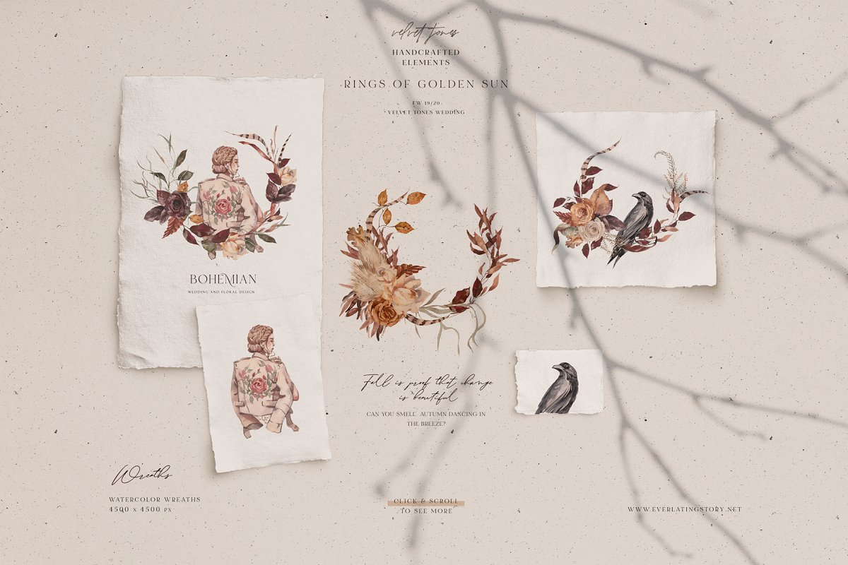 Dramatic Season Alphabet&Graphics in Illustrations - product preview 8