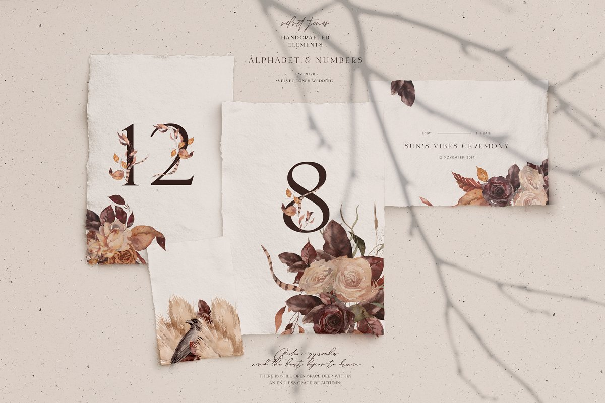 Dramatic Season Alphabet&Graphics in Illustrations - product preview 9