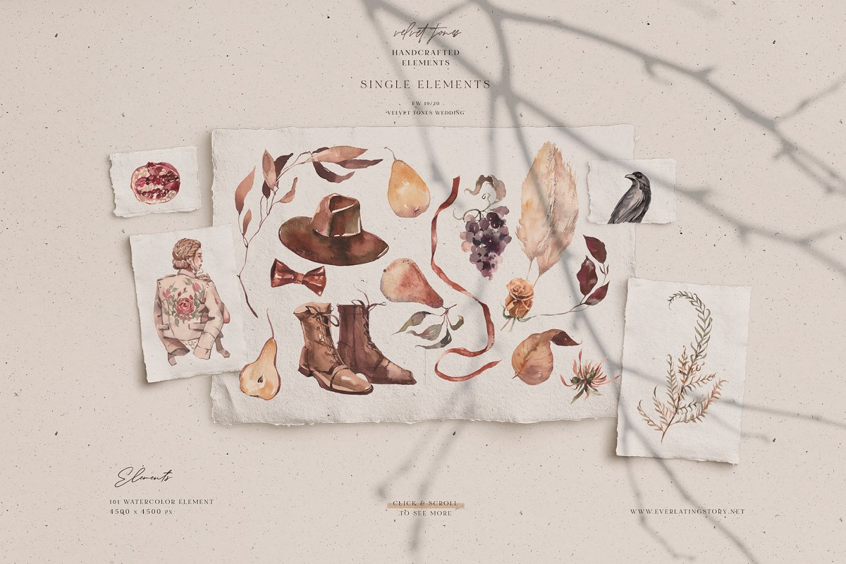 Dramatic Season Alphabet&Graphics in Illustrations - product preview 11