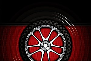 Racing car wheel
