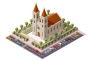 Vector isometric church