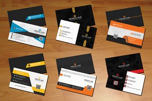6 Creative business cards bundle