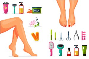 Epilation & Pedicure Procedure
