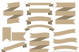 Kraft Paper Ribbon Banners