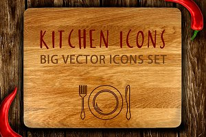 Kitchen Icons Big Set