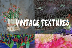 Vintage textures and backgrounds set