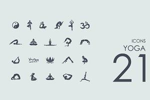 21 Yoga icons