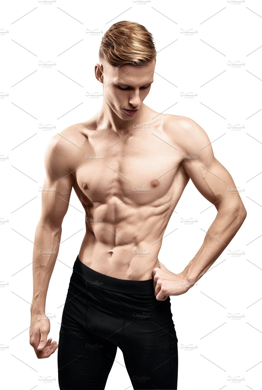 Young Man With A Muscular Torso Sports Photos Creative Market