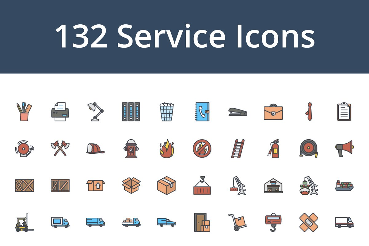 560 Colored Icons