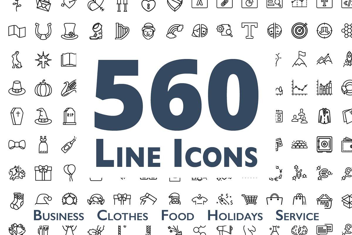 560 Line Icons