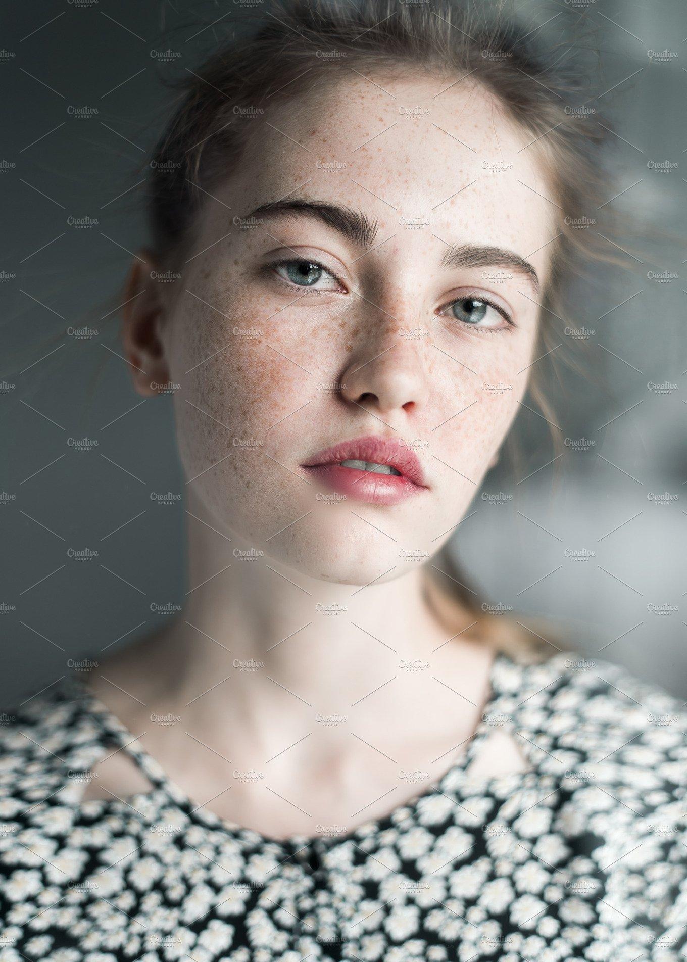 Face Of A Beautiful Young Girl  People Photos  Creative Market-5241