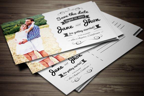 wedding invitation cards bundle invitation templates creative market - Postcard Wedding Invitations