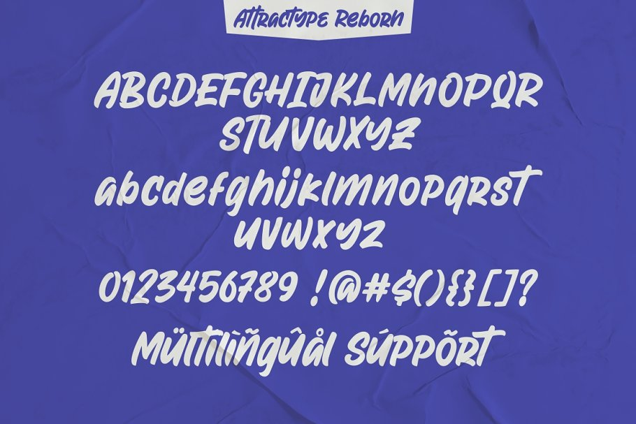Attractype Reborn - Stylish Font in Display Fonts - product preview 9