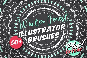 Winter Forest Illustrator Brushes