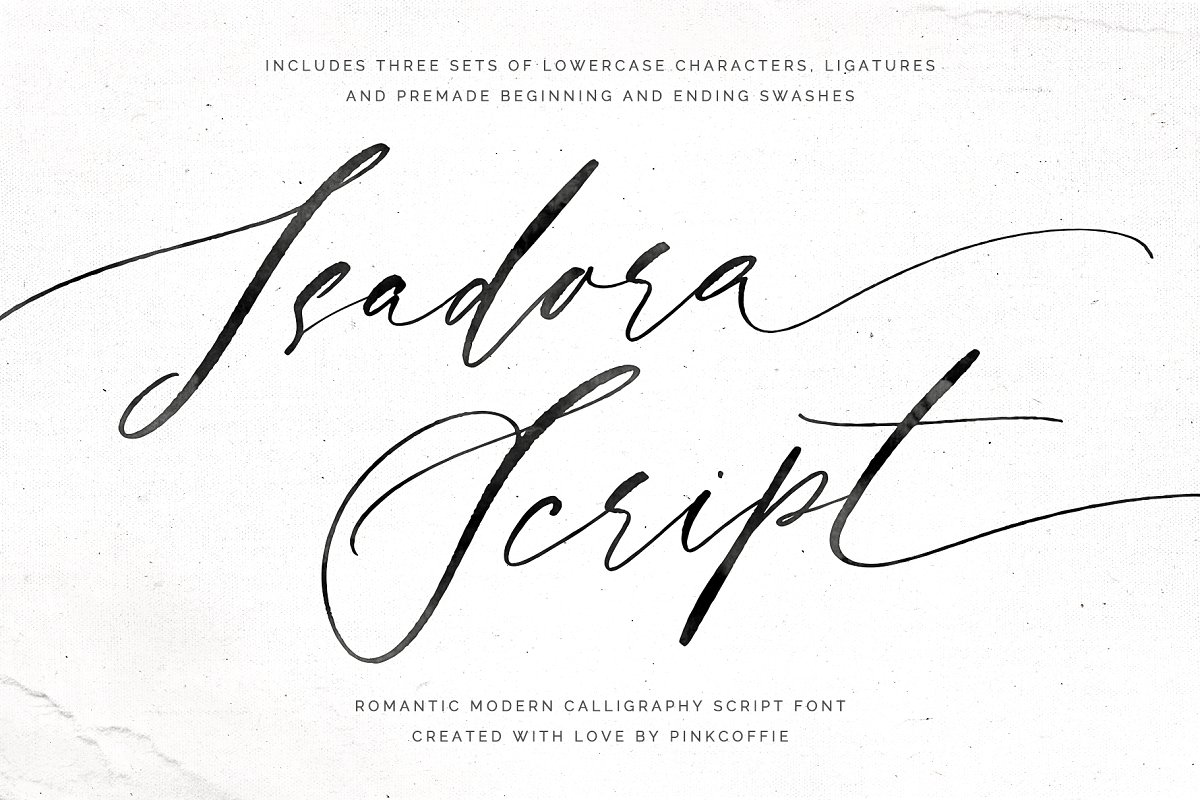 Isadora I Modern Calligraphy Script