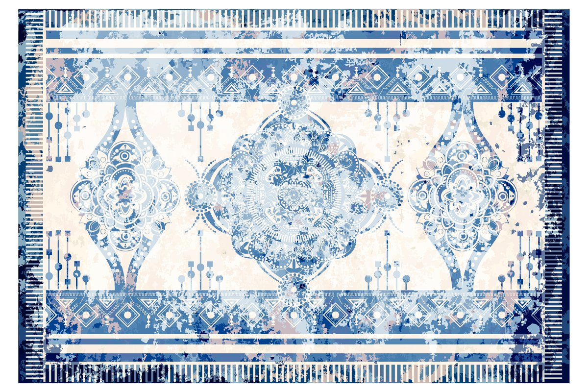 Vector design for rug, carpet