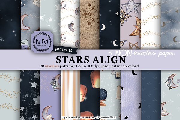 Starry Night Galaxy patterns