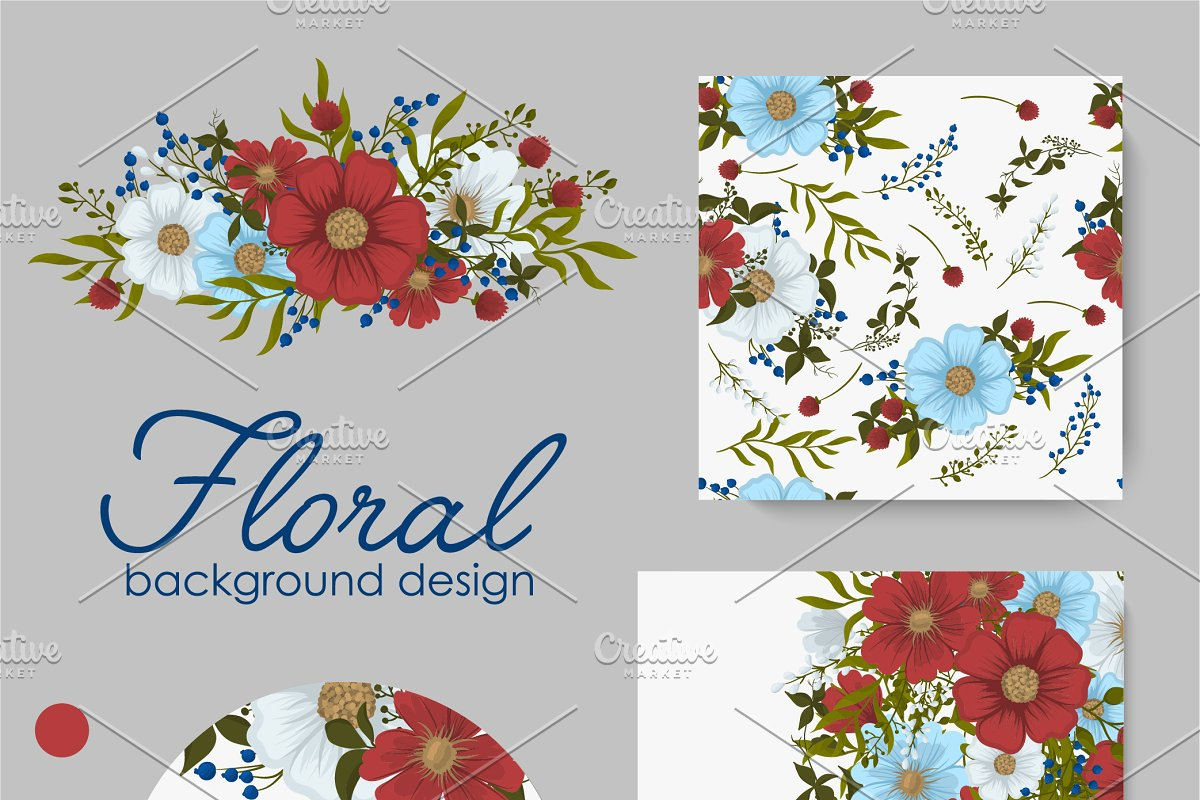 Floral backgrounds template EPS 10