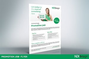 Flyer for Promotion job nex #014