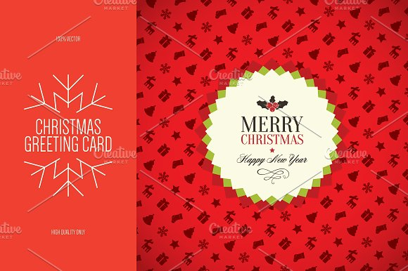 Christmas and New Year greeting card