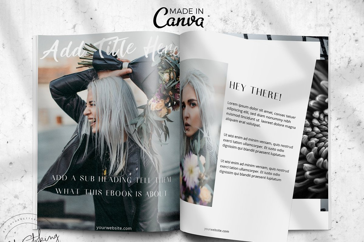 Canva eBook template: THE IMPACT in Magazine Templates - product preview 8