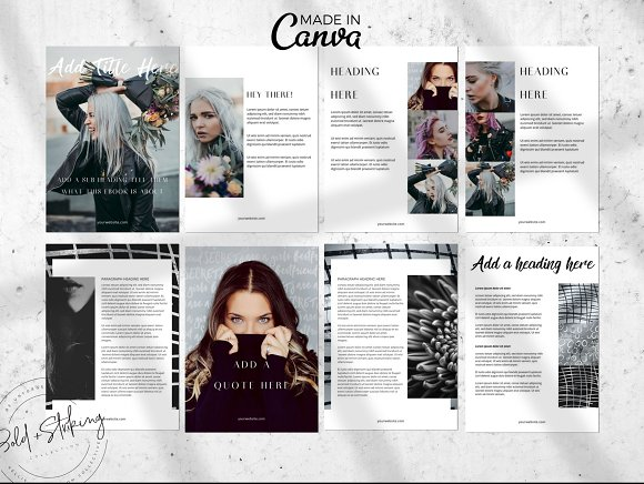 Canva eBook template: THE IMPACT in Magazine Templates - product preview 1