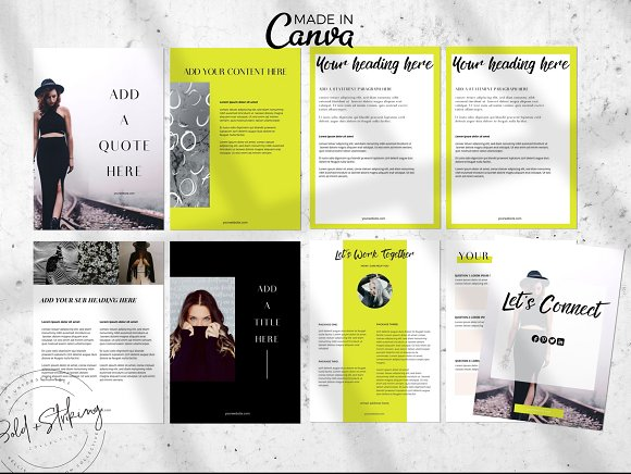 Canva eBook template: THE IMPACT in Magazine Templates - product preview 2