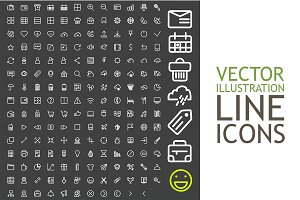Line Icons For Applications And Web