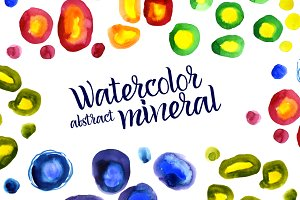Watercolor abstract Minerals