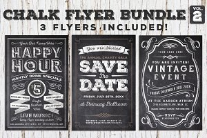 Chalk Flyer Bundle Vol. 2 (60% off)