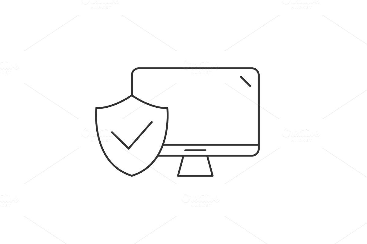 Desktop computer protected icon