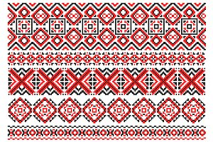 Retro ethnic ornaments and traceries