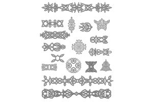 Celtic ornaments and embellishments