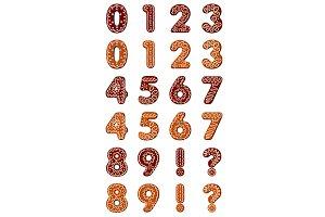 Gingerbread digits